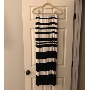 Black & white striped maxi